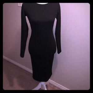 Sexy Little Black Dress Open Back
